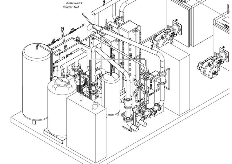 привязка блочно-модульной котельной